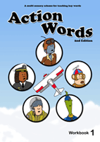 Action Words high frequency word workbook 1